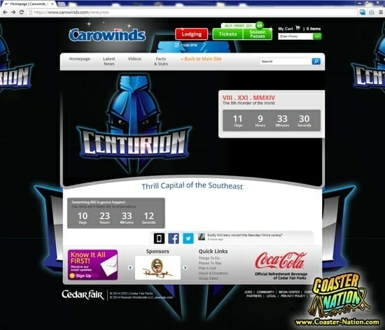 carowinds centurion screenshot full page cn