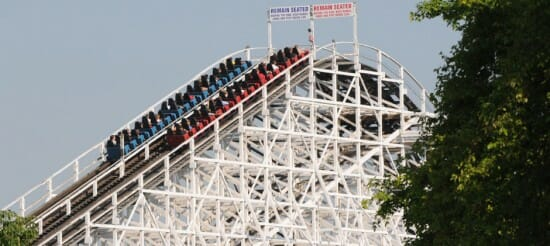 Racer Roller Coaster at Kings Island Gives it's 100 Millionth Ride