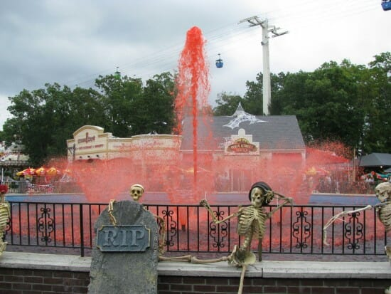 Fright Fest fountain