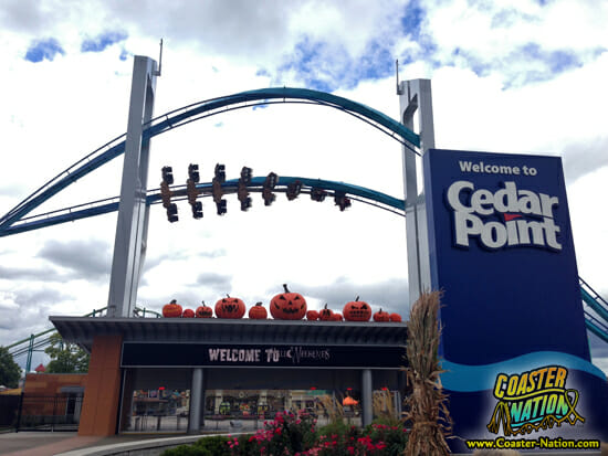 cedar point halloweekends entrance coaster nation