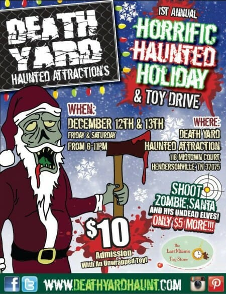 death yard haunted attraction christmas