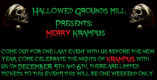 hallowed grounds mill haunted house christmas