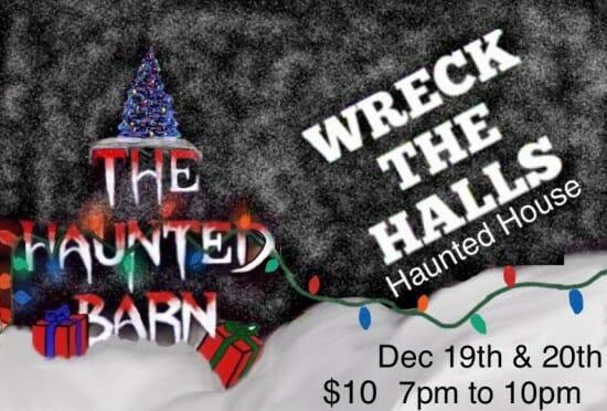 haunted barn christmas