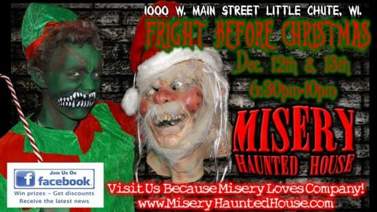 misery haunted house christmas