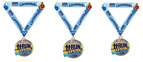 carowinds run ride medals