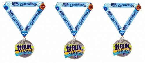 carowinds run ride medals