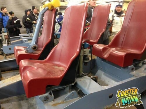 cedar point dragster seats snow