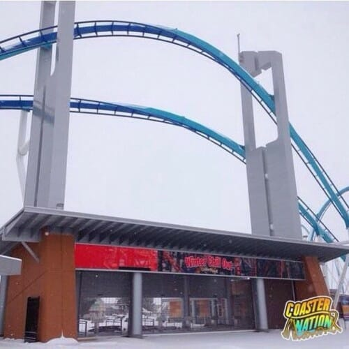 cedar point entrance snow