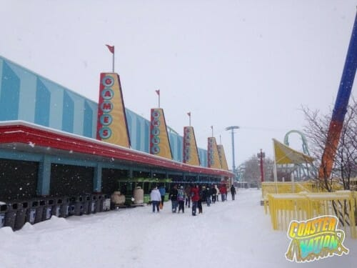cedar point games snow