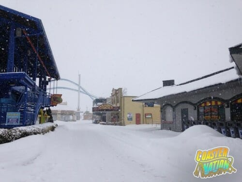 cedar point midway snow