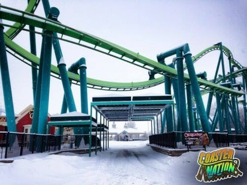 cedar point raptor snow
