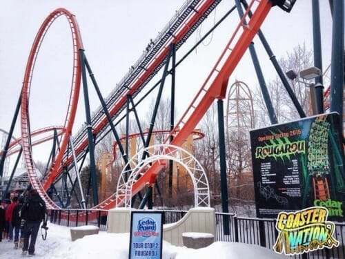 cedar point rougarou roller coaster snow