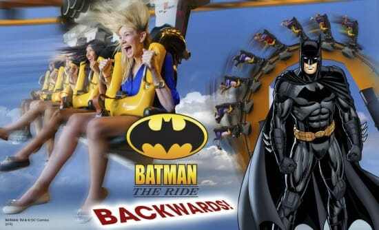 Six Flags Great Adventure Will Run Batman BACKWARDS For A Limited Time