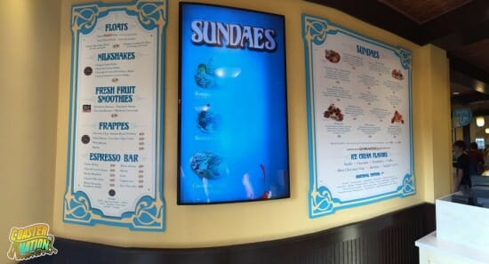 bgw ice cream shop menu