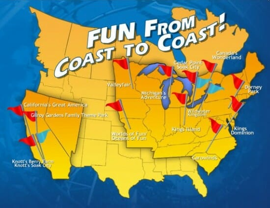 New Dark Rides Opening At Cedar Point And All Cedar Fair Parks - Map of us amusement parks