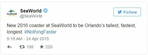 seaworld new coaster tweet