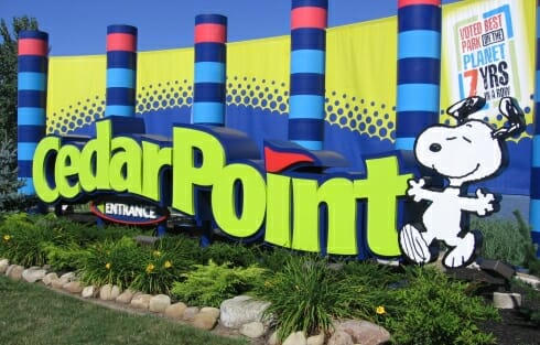 Cedar Point Front Entrance Sign