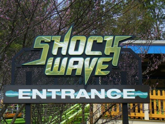 Kings Dominion Shockwave Entrance Sign