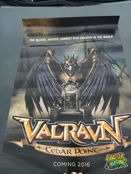 Cedar Point Valravn Poster
