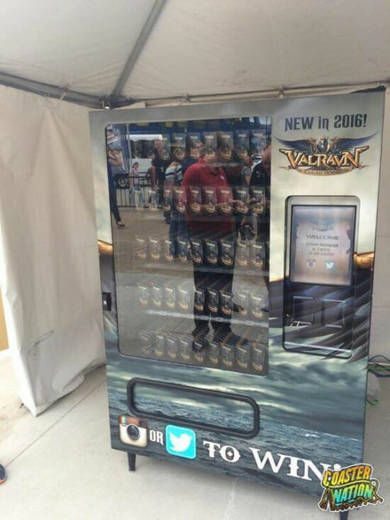 Cedar Point Valravn Vending Machine