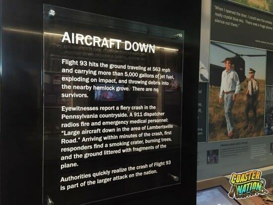 Flight 93 Aircraft Down Sign