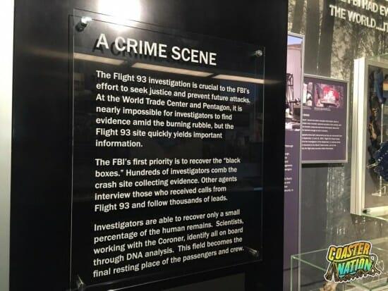 Flight 93 Crime Scene Sign