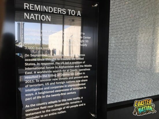 Flight 93 Reminders to a Nation Sign