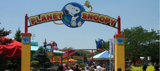 Kings Island Planet Snoopy Entrance