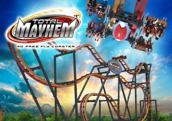 Six Flags Great Adventure Debuting New Total Mayhem Coaster