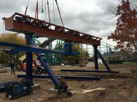 Cedar Point Valravn 2nd Construction Photo
