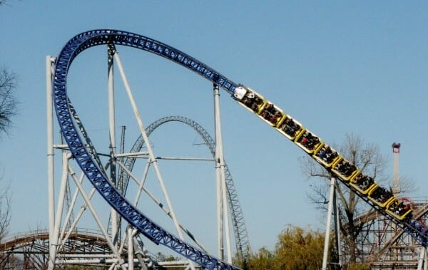 Millennium Force overbanked turn