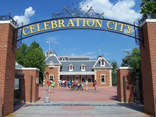 celebration city entrance