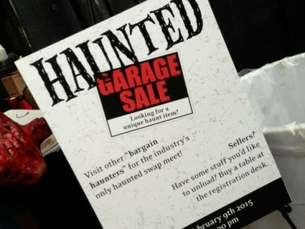 hauntcon garage sale