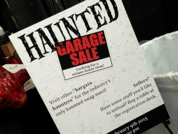 hauntcon garage sale