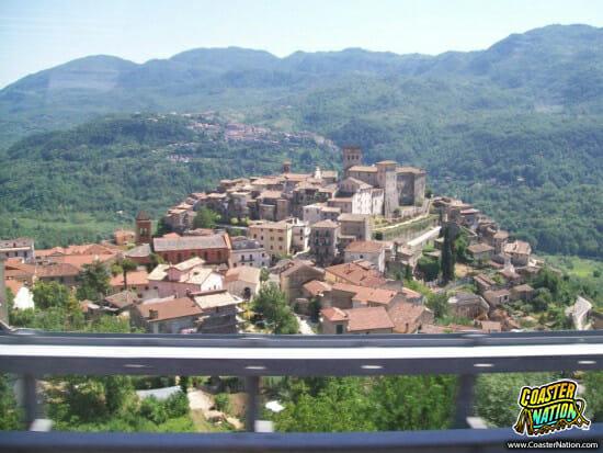 italian hilltop village - rainbow magicland