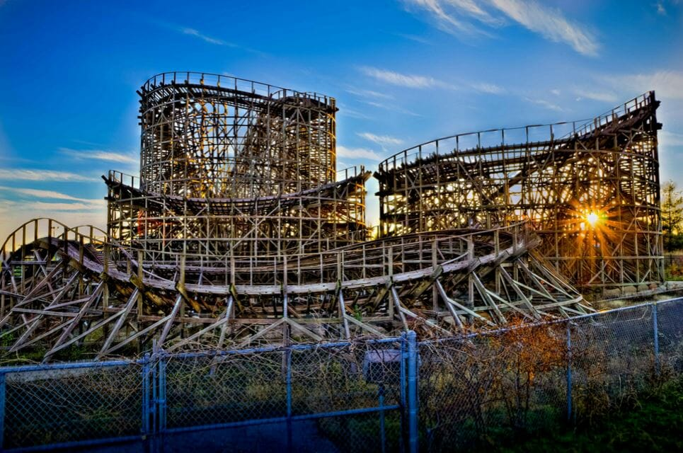 ozark wildcat coaster clebration city hdr