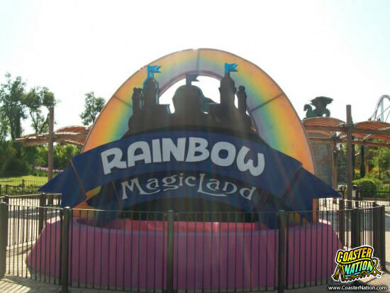 rainbow magicland sign