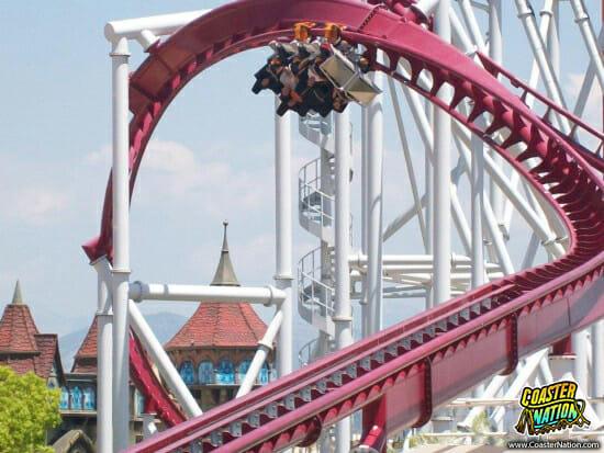 shock roller coaster - rainbow magicland