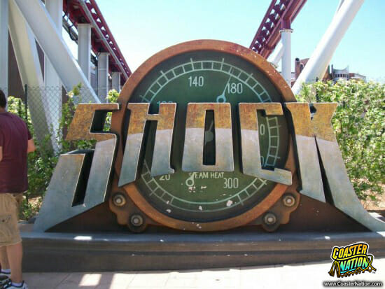 shock sign - rainbow magicland