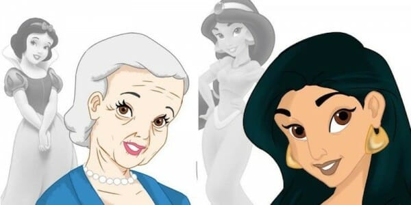 Disney Princesses Aged; Then And Now Photos
