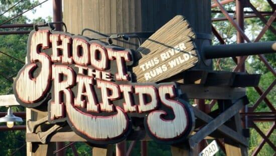 shoot the rapids logo upclose