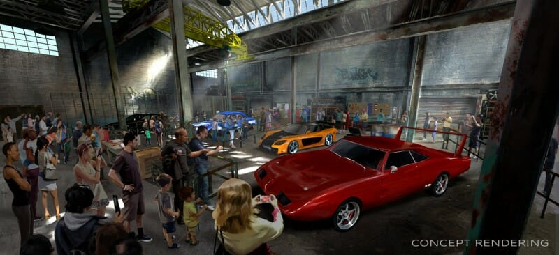 Fast and Furious orlando rendering