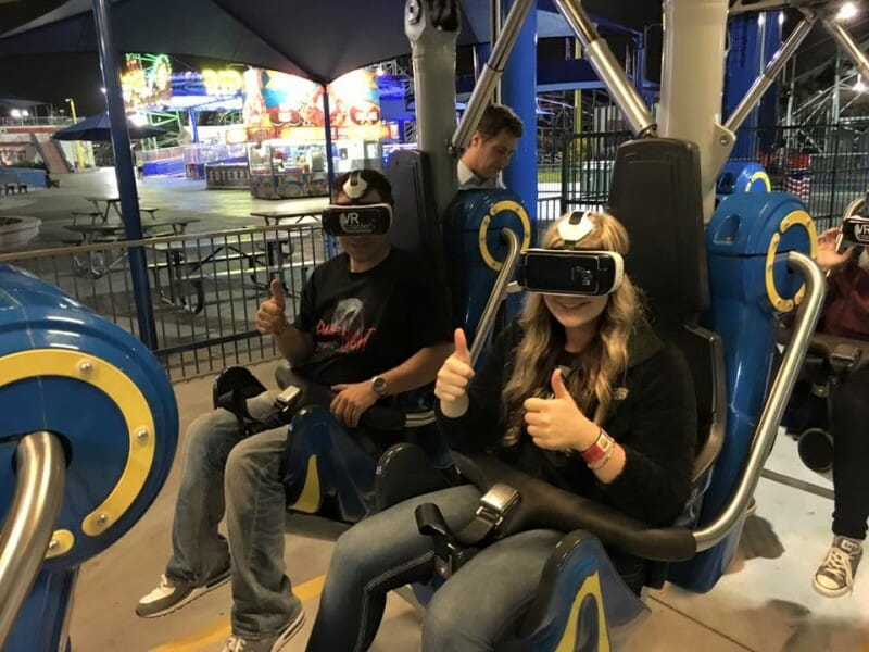 dan hower alyssa schipani vr coaster test