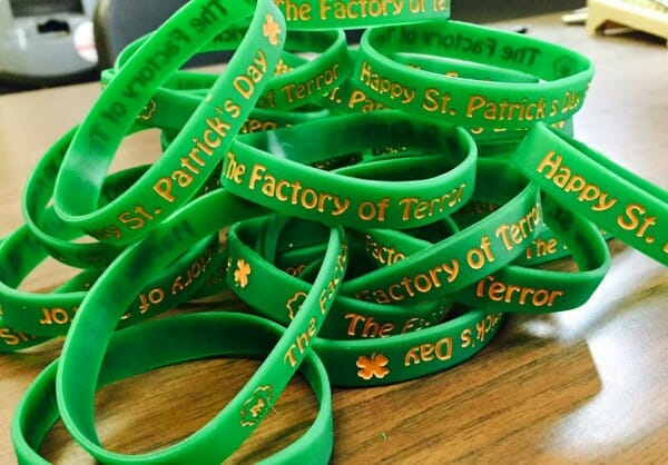 fot st patty day wristbands 2016
