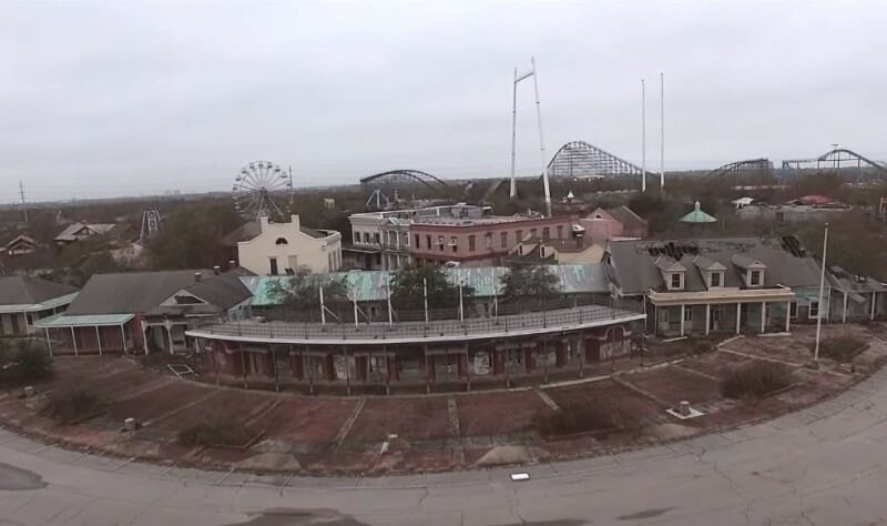 six flags nola entrance abandoned