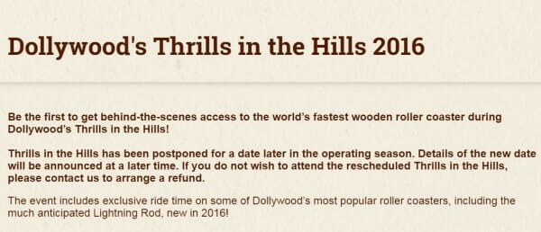 thrills in the hills canceled