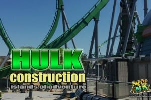 Universal Orlando: Incredible Hulk Coaster Update