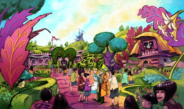 additionally beauty and the beast and alice in wonderland will be the themes for two new areas in development in fantasyland at tokyo disneyland park