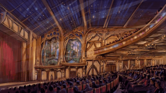Signature Disney entertainment unique to Tokyo Disneyland and featuring the Disney Friends will be presented in this storybook theater environment.