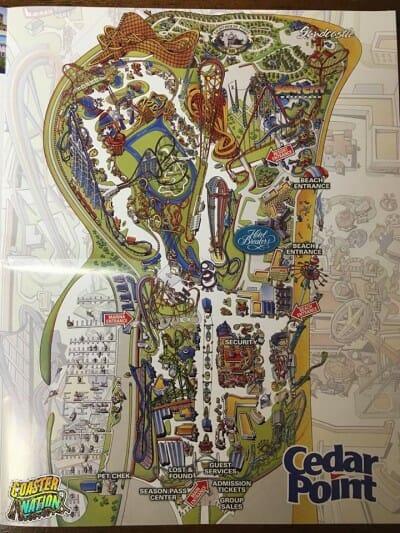cedar point 2016 park map